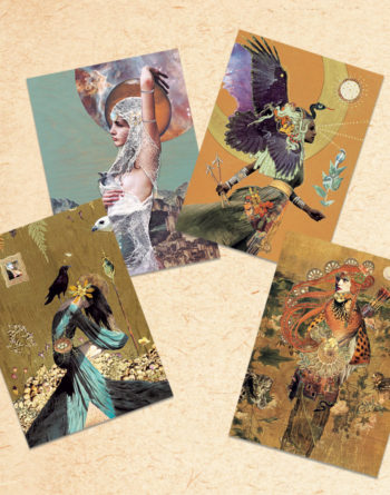 Found Fables Postcards Divine Feminine Set